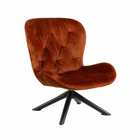Bjorn fauteuil Liv velvet - koper