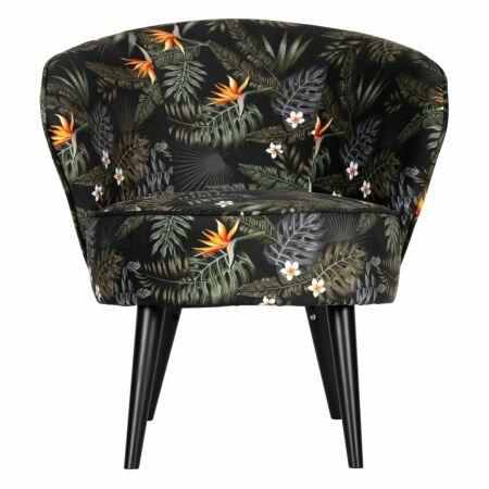Bo fauteuil Woood velvet bloem print
