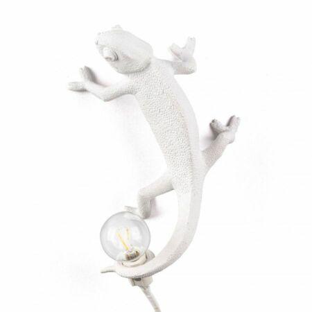 Chameleon wandlamp Seletti omhoog