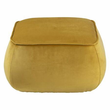 Farah poef Liv vierkant - velvet geel