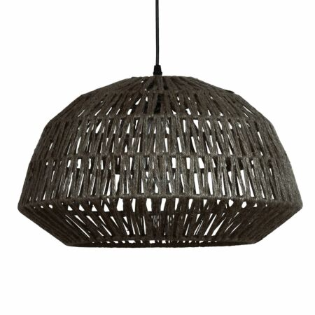 Kace hanglamp Woood Exclusive jute zwart