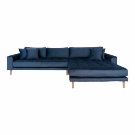 Lido loungebank House Nordic rechts - velvet donkerblauw