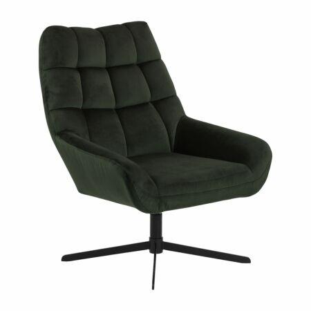 Milaan fauteuil Liv velvet - donkergroen