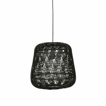 Moza hanglamp Woood Exclusive bamboe zwart Ø36