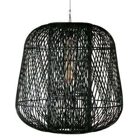 Moza hanglamp Woood Exclusive bamboe zwart ø100cm