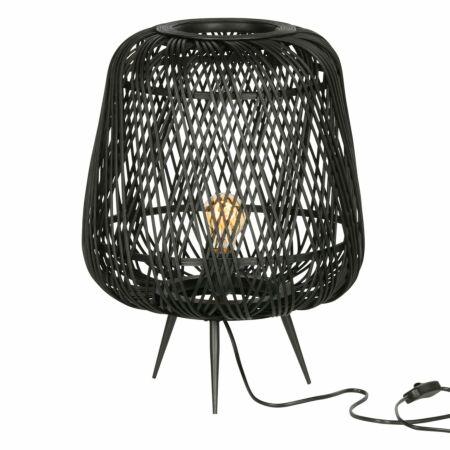 Moza tafellamp Woood Exclusive bamboe zwart