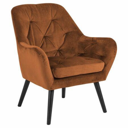 Noud fauteuil Liv velvet koper