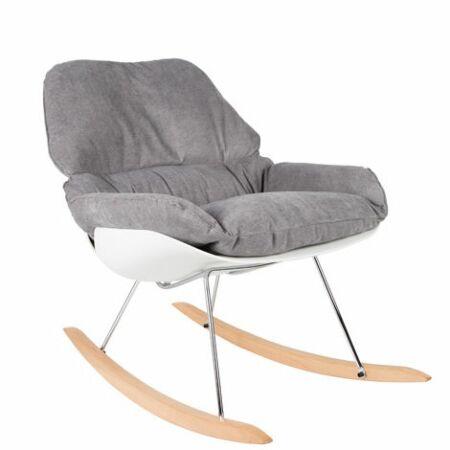 Rocky fauteuil Luzo lichtgrijs