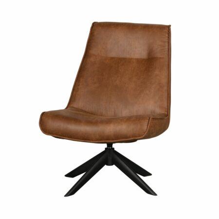 Skyler fauteuil Woood cognac