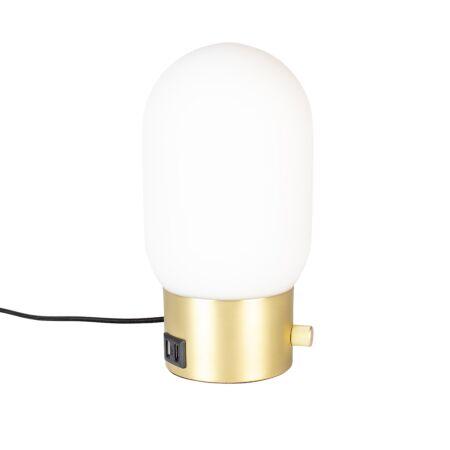 Urban tafellamp Zuiver charger goud