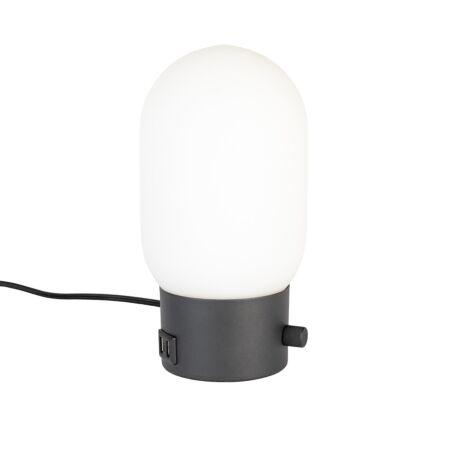 Urban tafellamp Zuiver charger zwart
