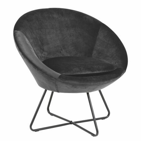 Vichy fauteuil Liv donkergrijs