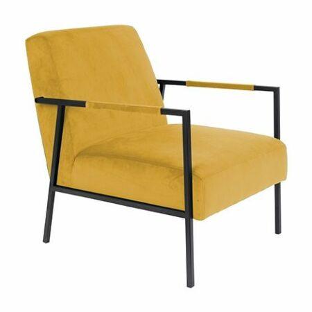 Wakasan fauteuil Luzo geel