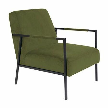 Wakasan fauteuil Luzo olijfgroen