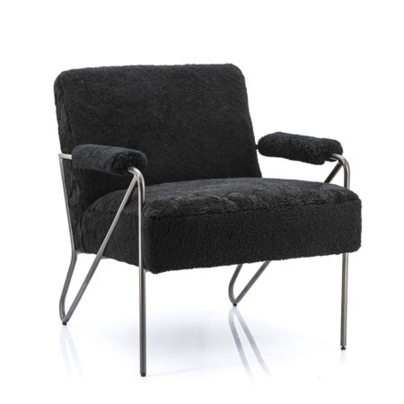 Wendy fauteuil Eleonora merino zwart