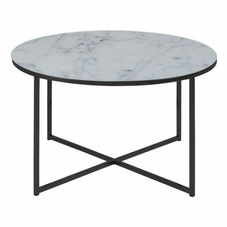 Yllene salontafel Liv rond zwart - wit