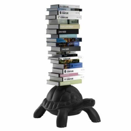 Turtle Carry boekenstandaard Qeeboo zwart