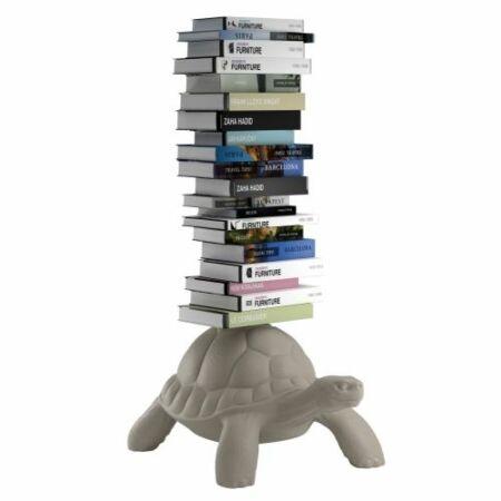 Turtle Carry boekenstandaard Qeeboo taupe