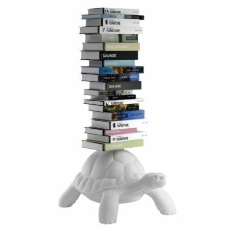 Turtle Carry boekenstandaard Qeeboo wit
