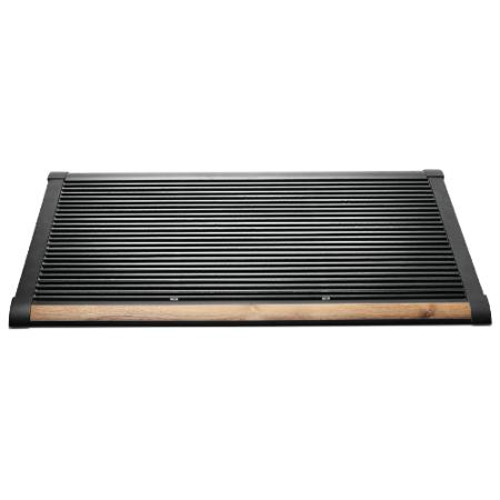 New Standard deurmat Rizz antraciet teak 90cm