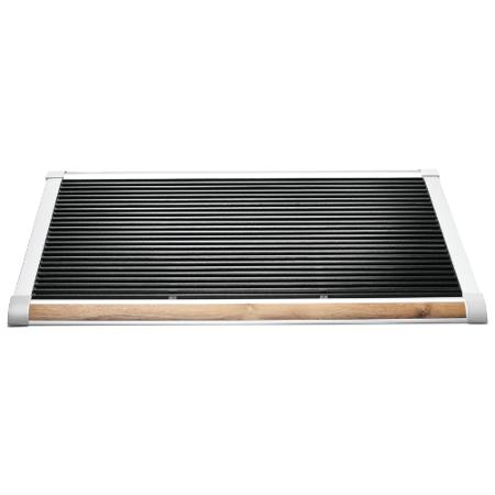 New Standard deurmat Rizz zilver teak 120cm