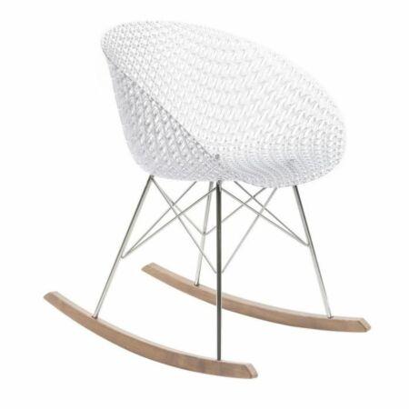 OUTLET - Smatrik stoel Kartell verchroomd - kristal schommelstoel