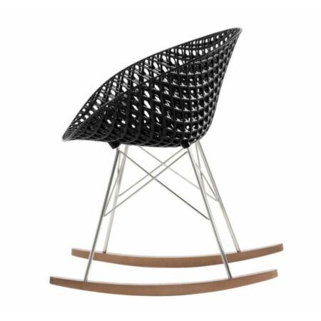 OUTLET - Smatrik stoel Kartell verchroomd - zwart schommelstoel