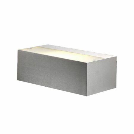 Outlet - Tibo Big Covered wandlamp Toss B geborsteld aluminium