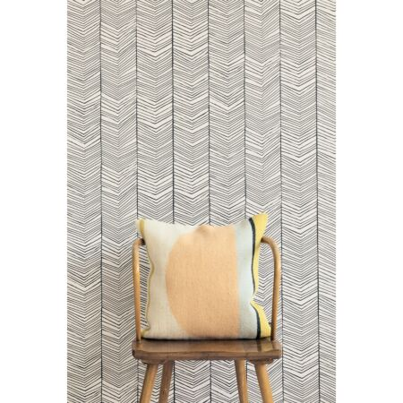 Herringbone behang Ferm Living - Off White