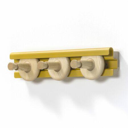 Wheels wandkapstok Van Esch 50cm - geel