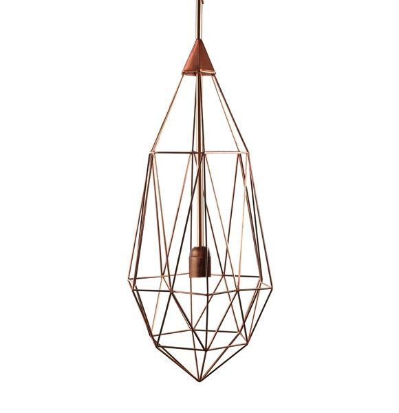 OUTLET - Diamond hanglamp Pols Potten copper large