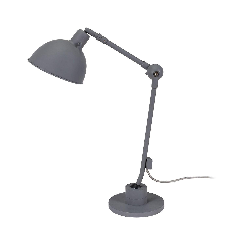 Dixie tafellamp Bodilson donkergrijs