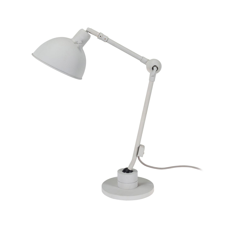 Dixie tafellamp Bodilson lichtgrijs