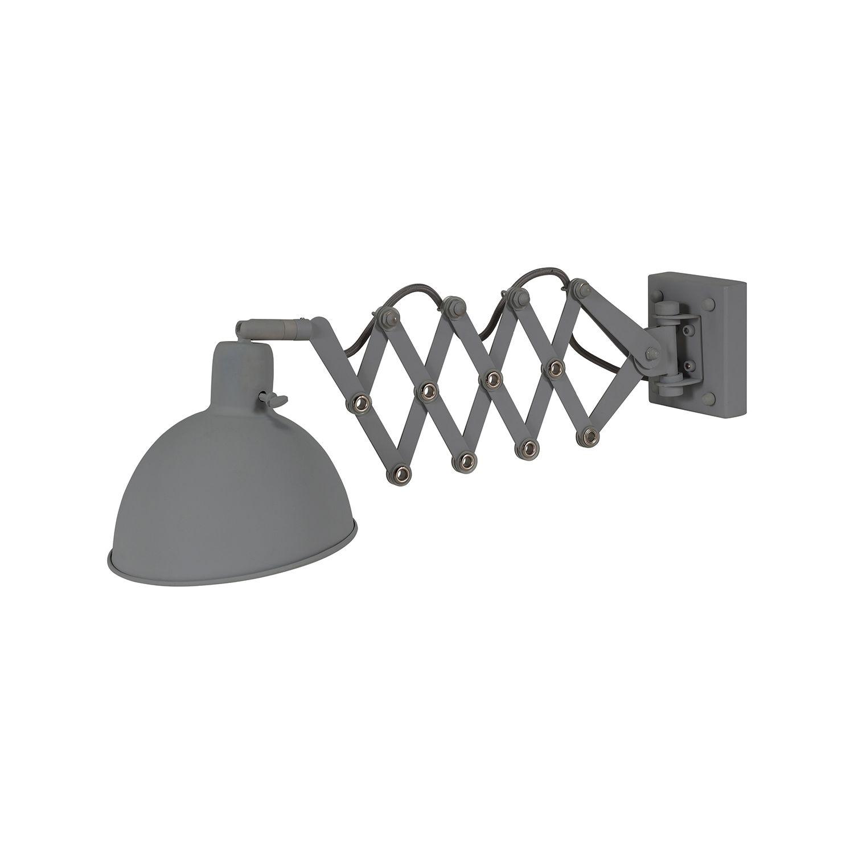 Dixie wandlamp Bodilson donkergrijs