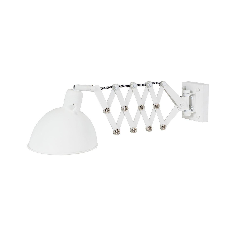 Dixie wandlamp Bodilson wit