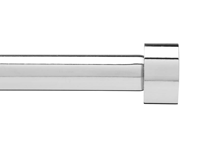 Cappa gordijnstang Umbra enkel 183-366cm chroom