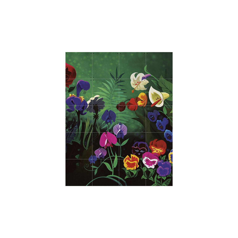 OP = OP - Disney wanddecoratie Ixxi alice flowers 100x80cm