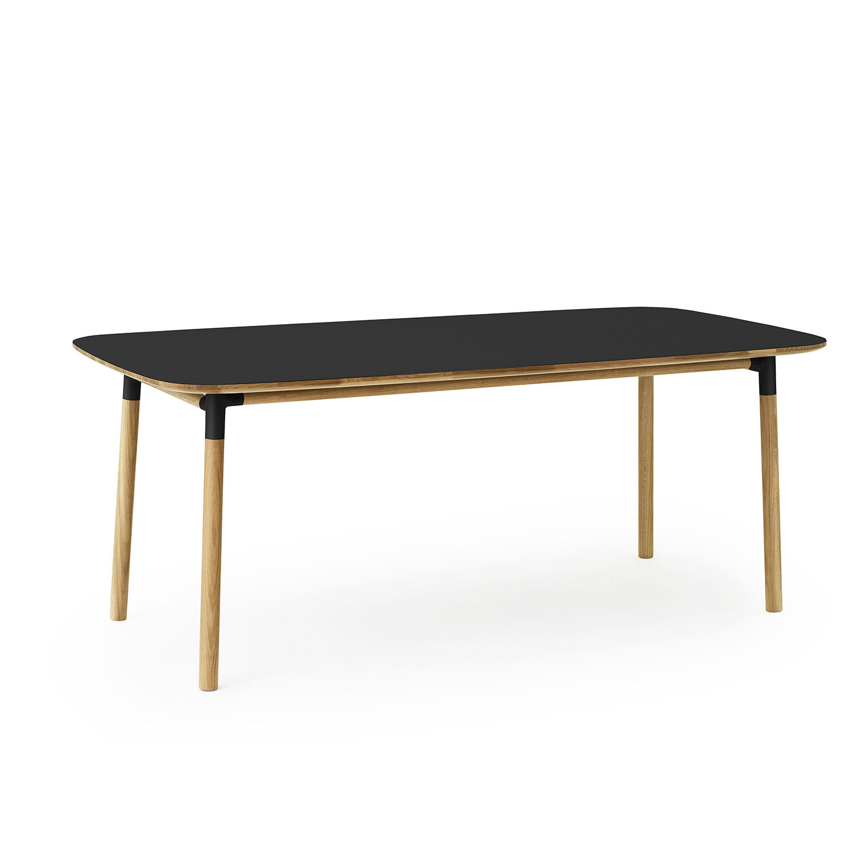 Form eettafel Normann Copenhagen 200x95 zwart
