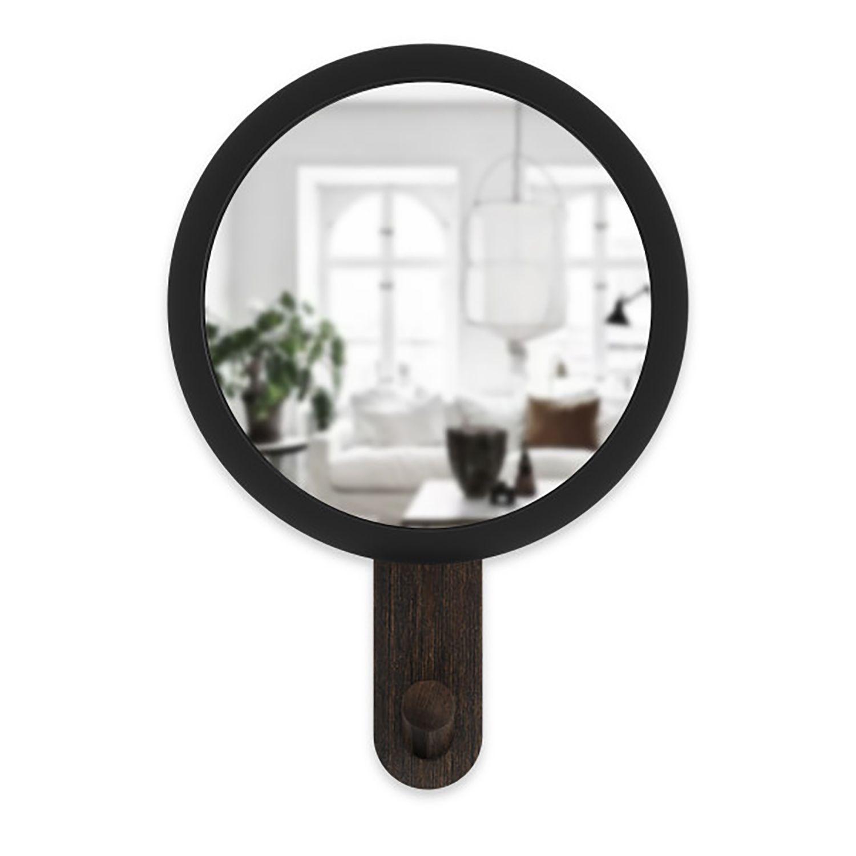 Hub spiegel met haak Umbra walnoot