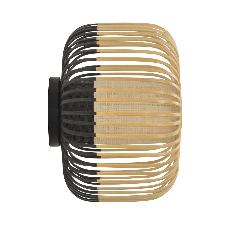 Bamboo wandlamp Forestier Ø35 zwart