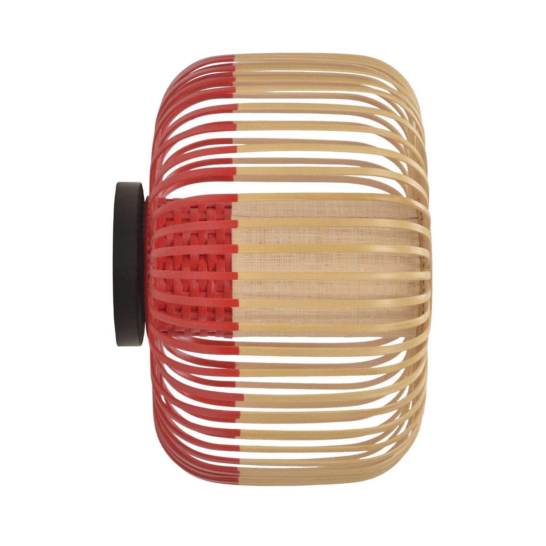Bamboo wandlamp Forestier Ø35 rood