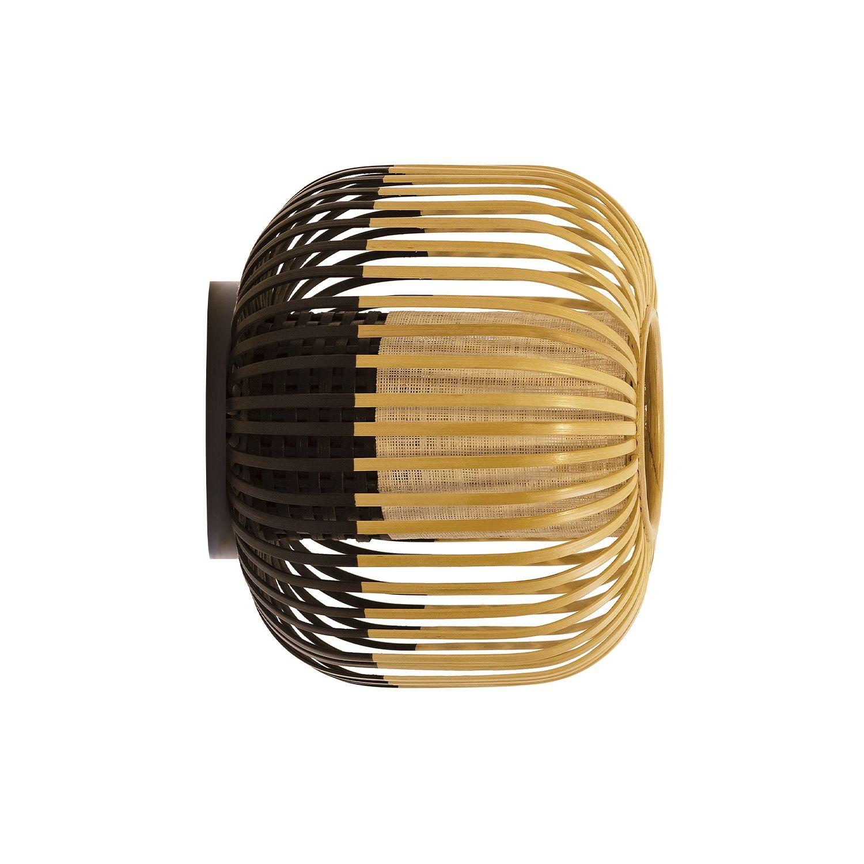 Bamboo wandlamp Forestier Ø27 zwart