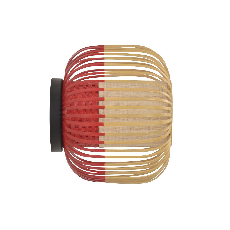 Bamboo wandlamp Forestier Ø27 rood