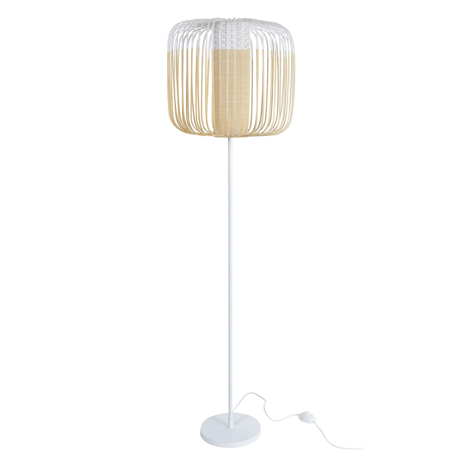 Bamboo vloerlamp Forestier wit