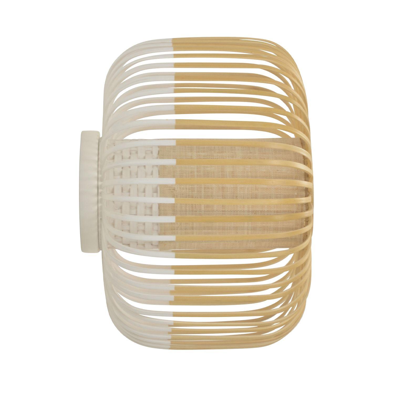 Bamboo wandlamp Forestier Ø35 wit