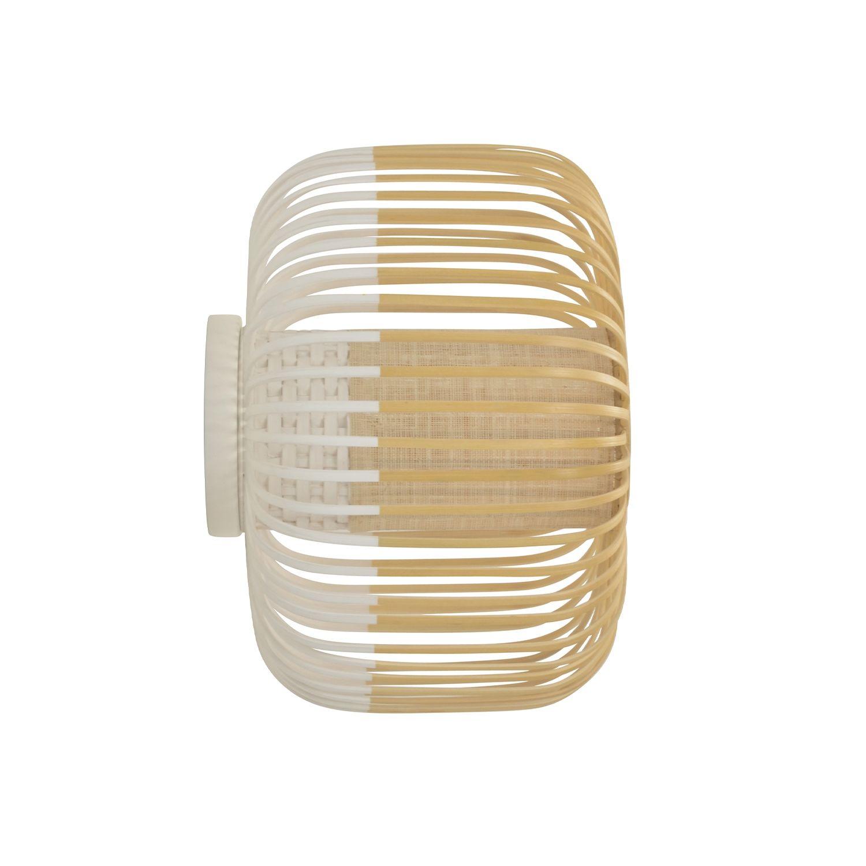 Bamboo wandlamp Forestier Ø27 wit