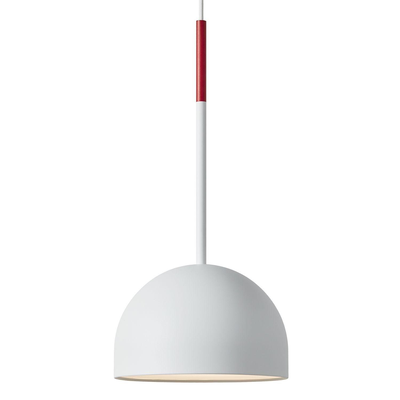 Beaming Bobber hanglamp Frederik Roijé round wit - rood