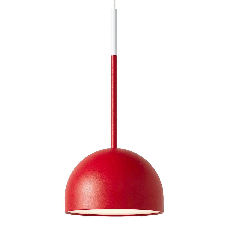 Beaming Bobber hanglamp Frederik Roijé round rood - wit