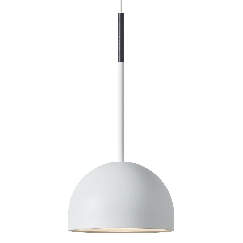 Beaming Bobber hanglamp Frederik Roijé round wit - donkergrijs