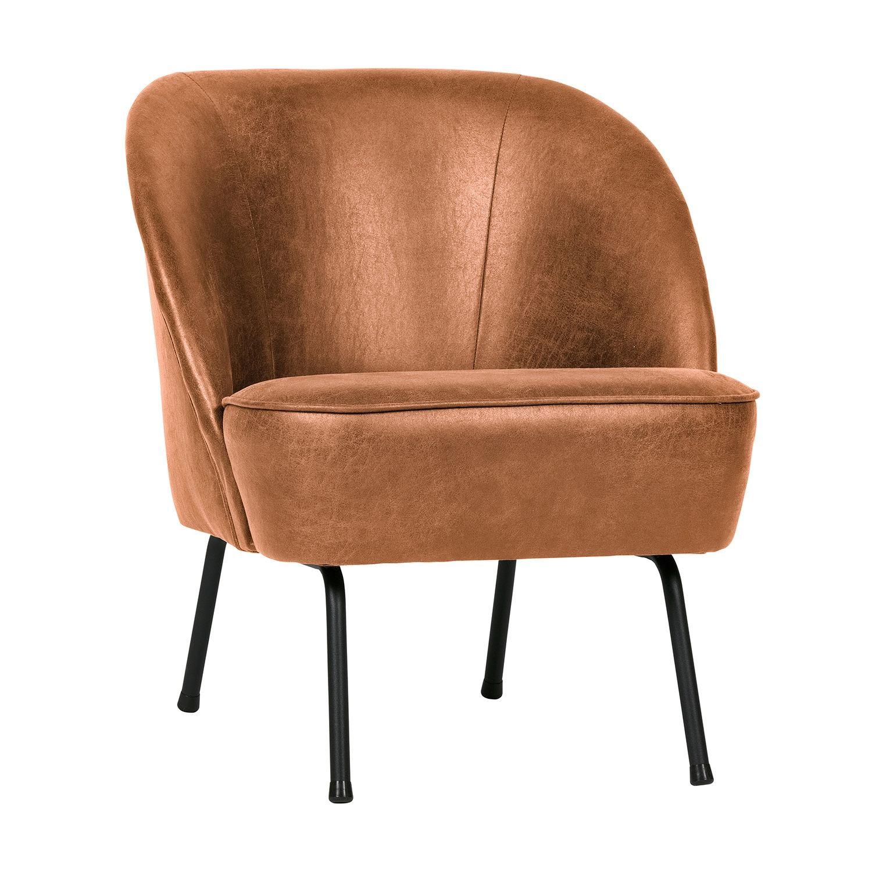 Vogue fauteuil BePureHome leer - cognac